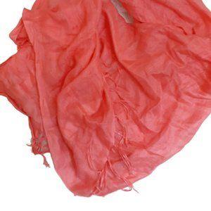 3/$20 Nordstrom peach tassle scarf